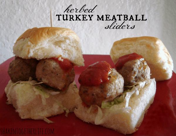 Easy Herbed Turkey Meatball Sliders with McCormick ...