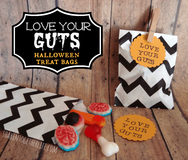 Love Your Guts Halloween Treat Bags at shakentogetherlife.com