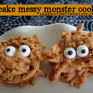 No Bake Messy Monster Cookies