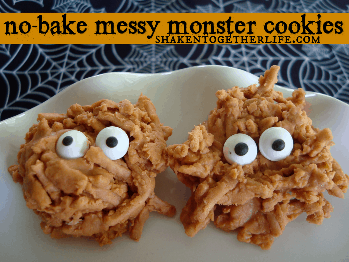 {no-bake} Messy Monster Cookies
