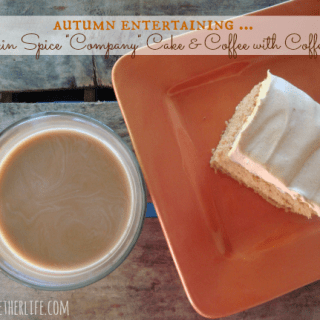 "Autumn Entertaining, Fall Favorites & Pumpkin Spice ""Company"" Cake with Coffee-mate"