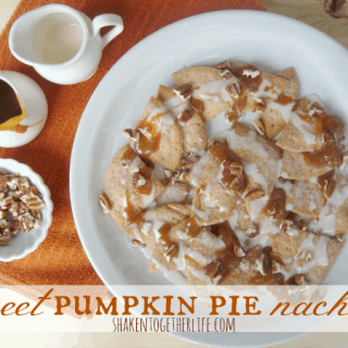 Sweet pumpkin pie dessert nachos at shakentogetherlife.com
