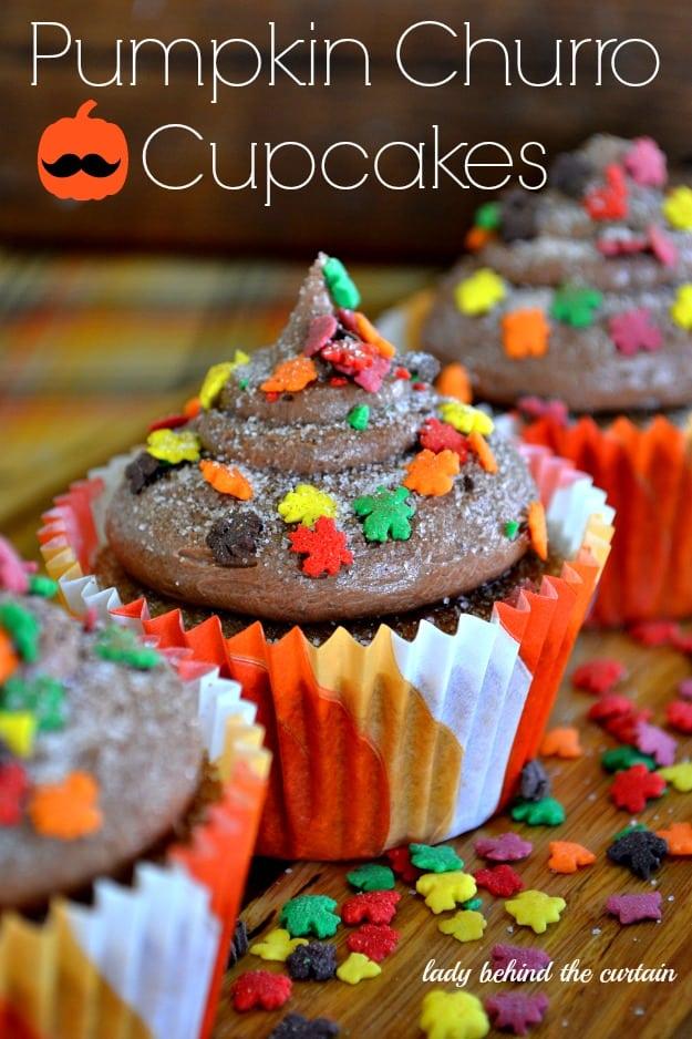 autumn Pumpkin-Churro-Cupcakes-Lady-Behind-The-Curtain-2