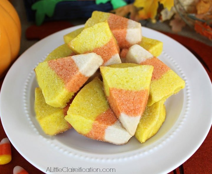 autumn candy corn cookies