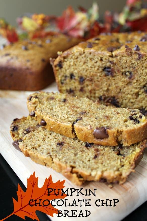 autumn choc chip pumpkin bread