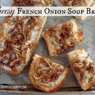 Cheesy French Onion Soup Bread holiday appetizer at shakentogetherlife.com #shop #STAROliveOil
