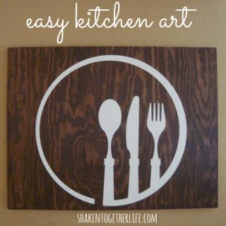 Easy kitchen art at shakentogetherlife.com