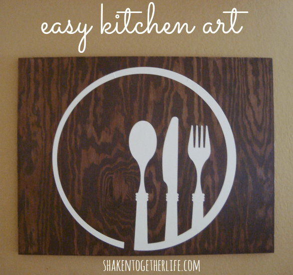 Easy kitchen art at shakentogetherlife.com