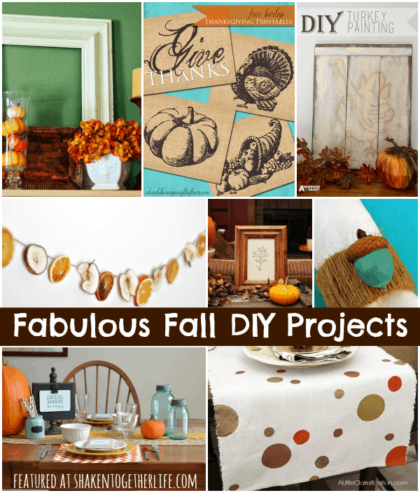 Fabulous Fall DIY Projects featured at shakentogetherlife.com