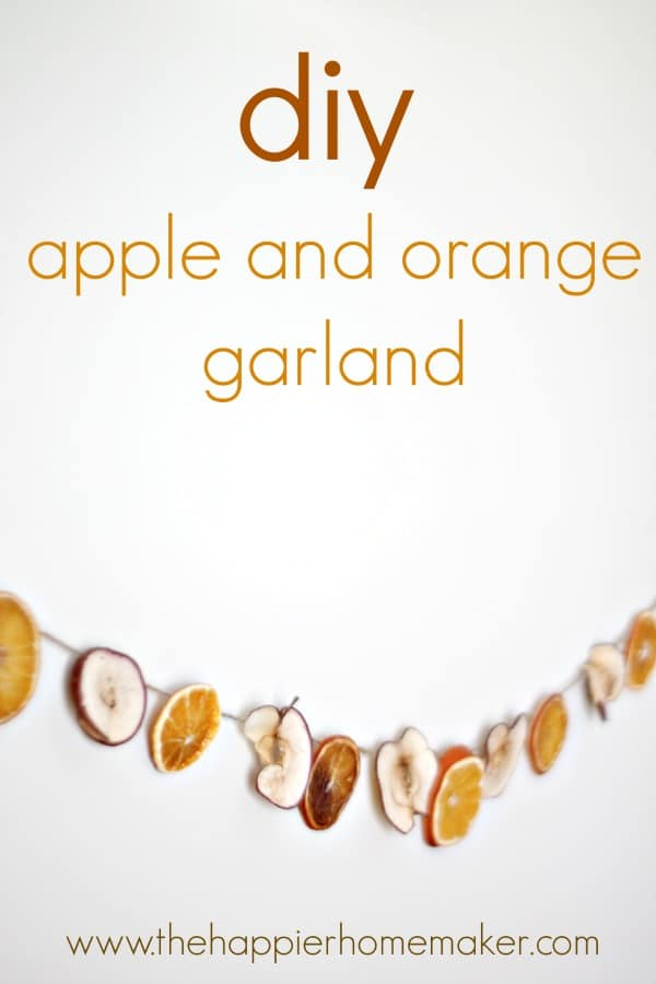 Fall diy-apple-orange-garland