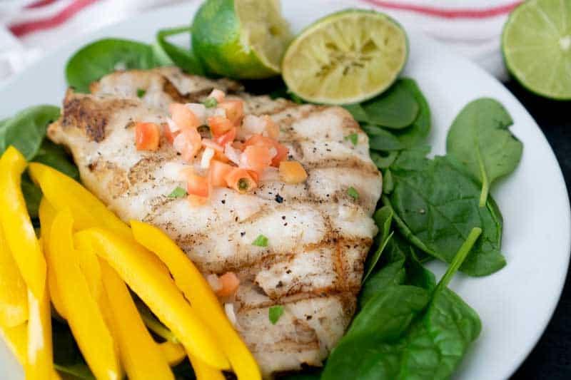 Key lime butter grilled grouper - fresh from Florida at shakentogetherlife.com #spon