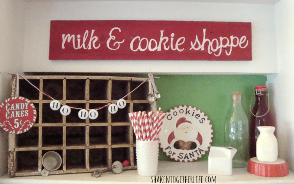 Milk and cookie shoppe - one part of the mini holiday home tour at shakentogetherlife.com