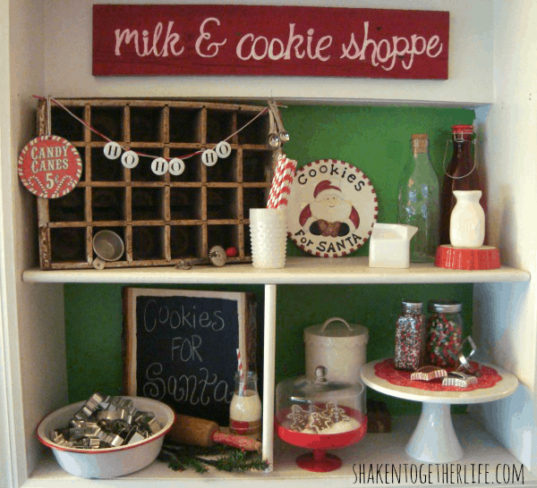 The milk and cookie shoppe - one stop in the mini holiday home tour at shakentogetherlife.com