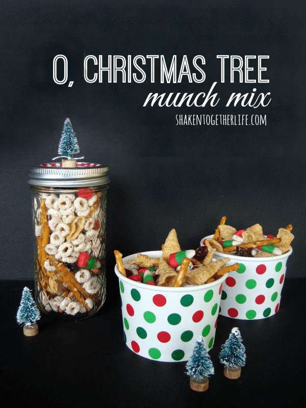 O Christmas Tree Munch Mix at shakentogetherlife.com