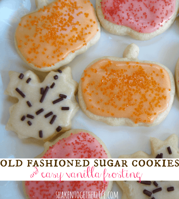 Soft buttery sugar cookies with smooth vanilla frosting at shakentogetherlife.com