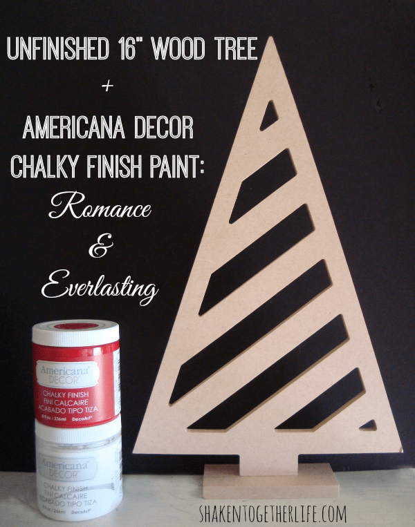 Supplies for a rustic red tree at shakentogetherlife.com