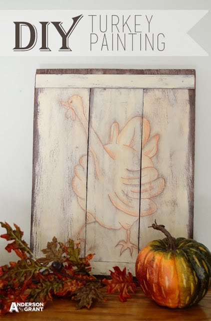 fall DIY Turkey Painting Title Picture