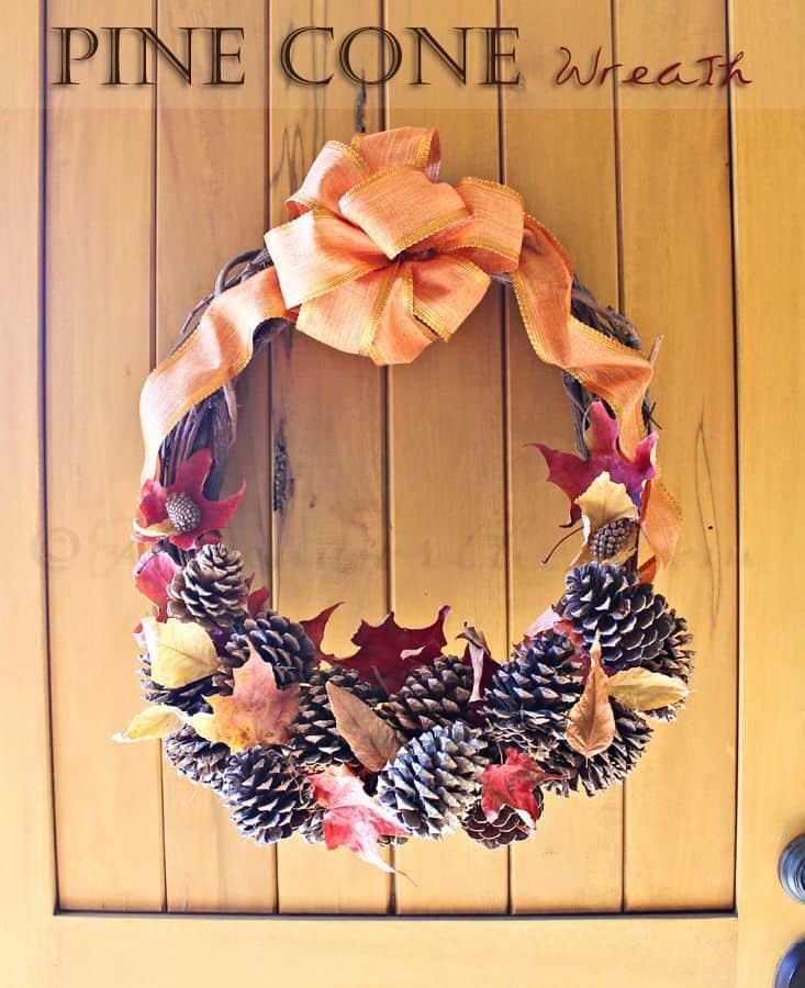 fall diy pinecone wreath