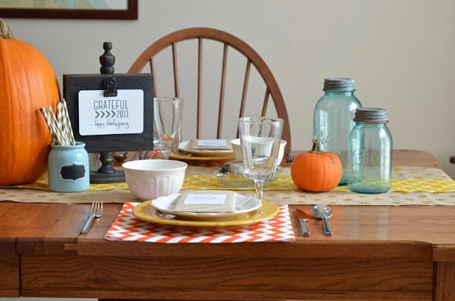 fall diy thankgiving table ideas