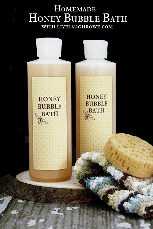 gift Homemade-Honey-Bubble-Bath.-Great-gift-idea-Find-the-recipe-at-livelaughrowe.com_