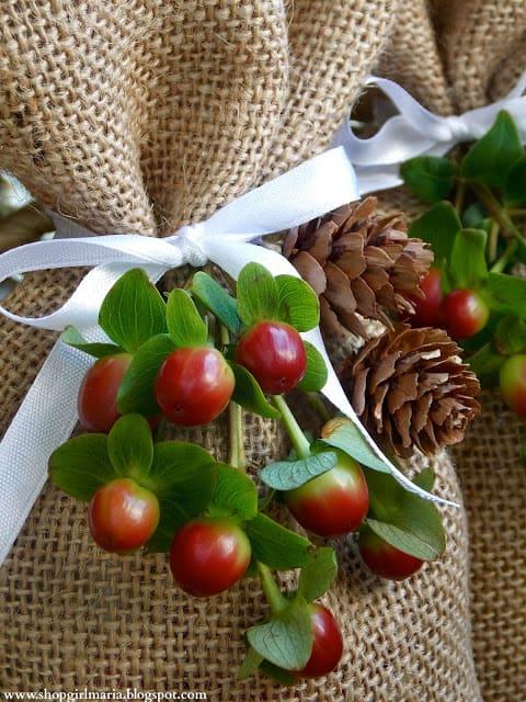 gift burlap treat bags