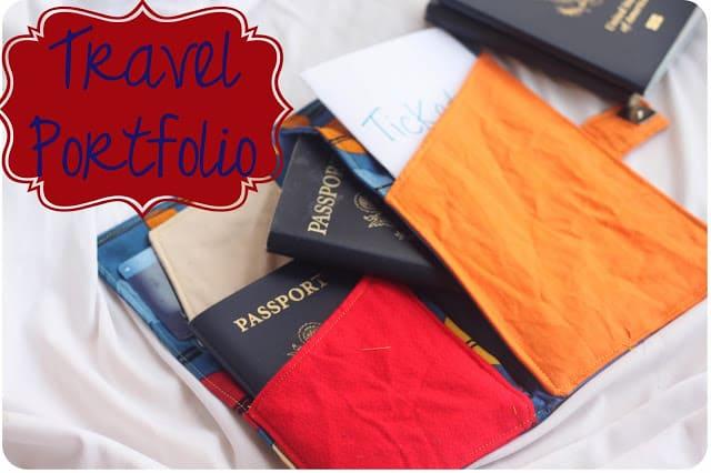 Travel portfolio gift