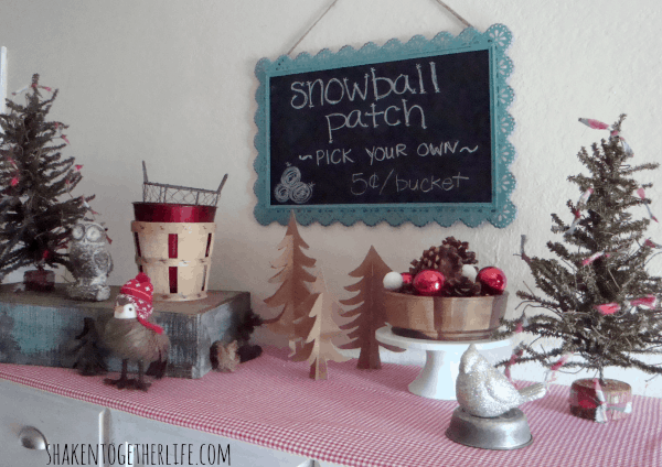 Pick Your Own Snowball Patch - one stop on the holiday home tour at shakentogetherlife.com