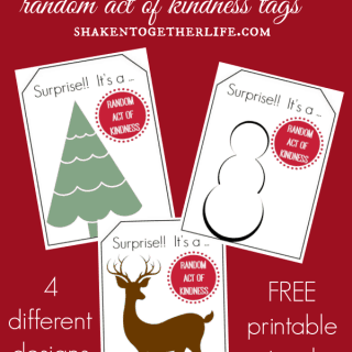 Printable {Decorate Your Own} Random Acts of Kindness Tags – Just Add Sharpie!!