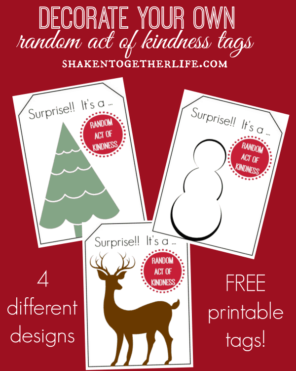 Printable decorate your own random acts of kindness tags love these color your own random acts of kindness tags free printable at shakentogetherlife pronofoot35fo Image collections