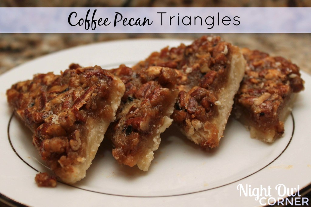 Coffee Pecan Triangles