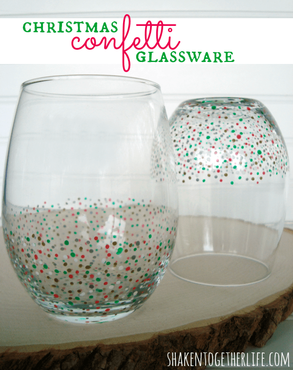 Easy diy confetti glassware for Easy presents to make for friends