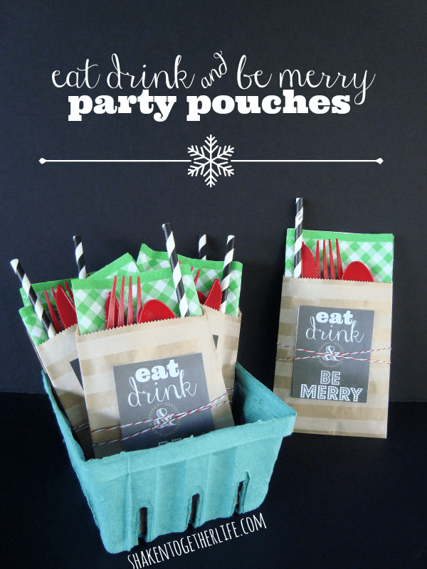 Cute little party pouches mean no one is fumbling with silverware or forgets their napkin!