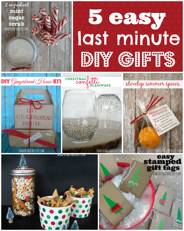 5 Easy Last Minute Gifts To Diy