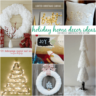 Festive holiday decor ideas - featured at shakentogetherlife.com