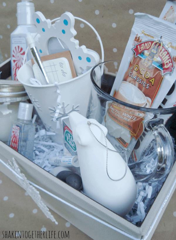 White Christmas teacher gift idea at shakentogetherlife.com