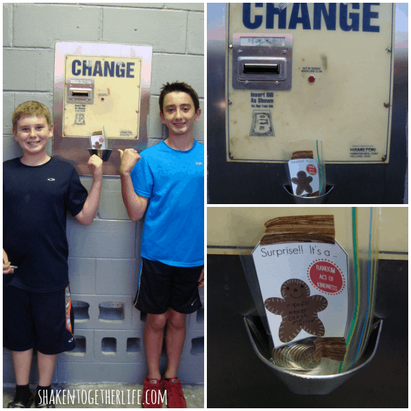 Random acts of kindness idea: leave quarters at a local car wash!