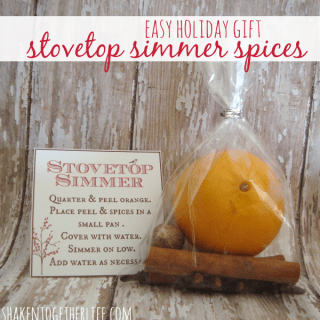 Stovetop Simmer Spices are an easy and fragrant holiday gift!