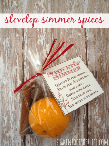 Stovetop simmer spices make an unbelievably simple yet deliciously fragrant holiday gift!