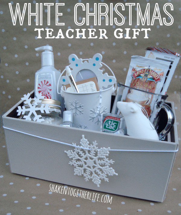 White Christmas teacher gift at shakentogetherlife.com