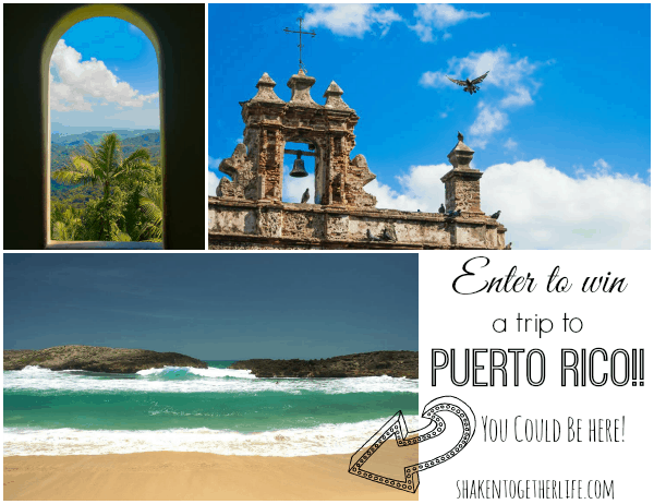Enter to win a vacation for 2 to Puerto Rico!