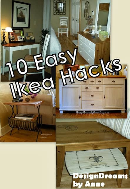 10 Easy IKEA Hacks- most clicked at Creativity Unleashed