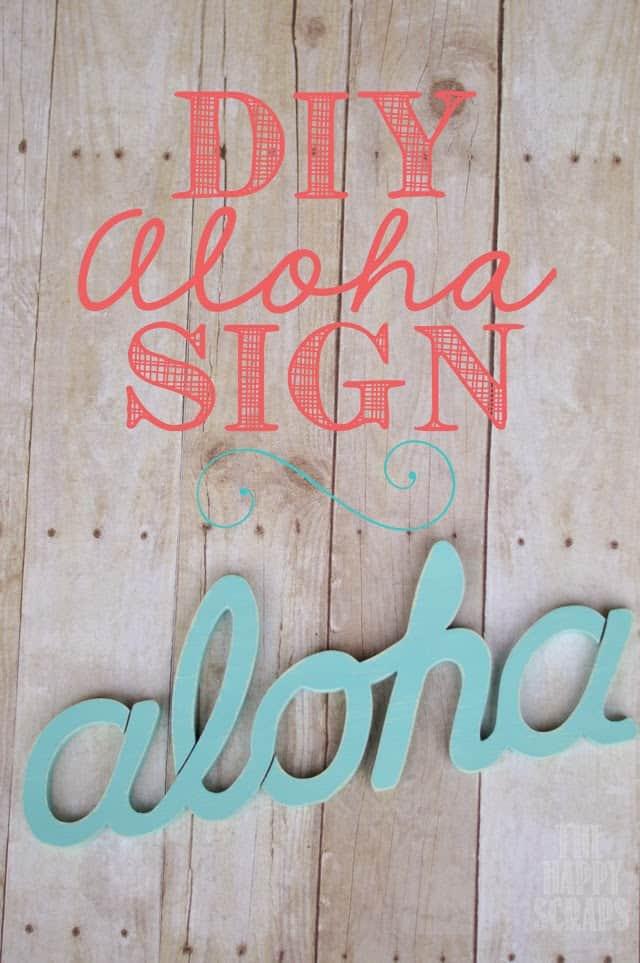 DIY Aloha sign