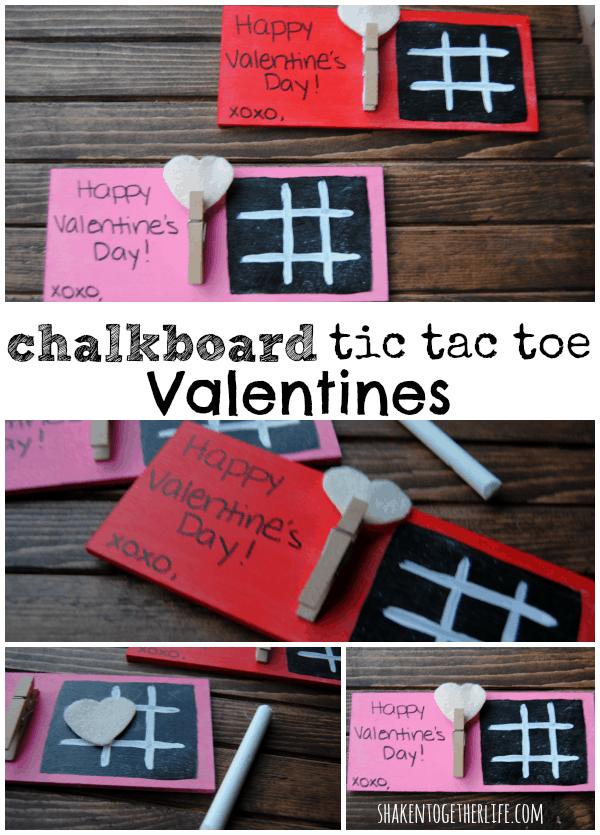 DIY chalkboard tic tac toe Valentines!