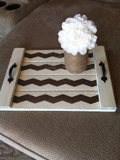 DIY chevron tray Pretty DIY home decor idea!