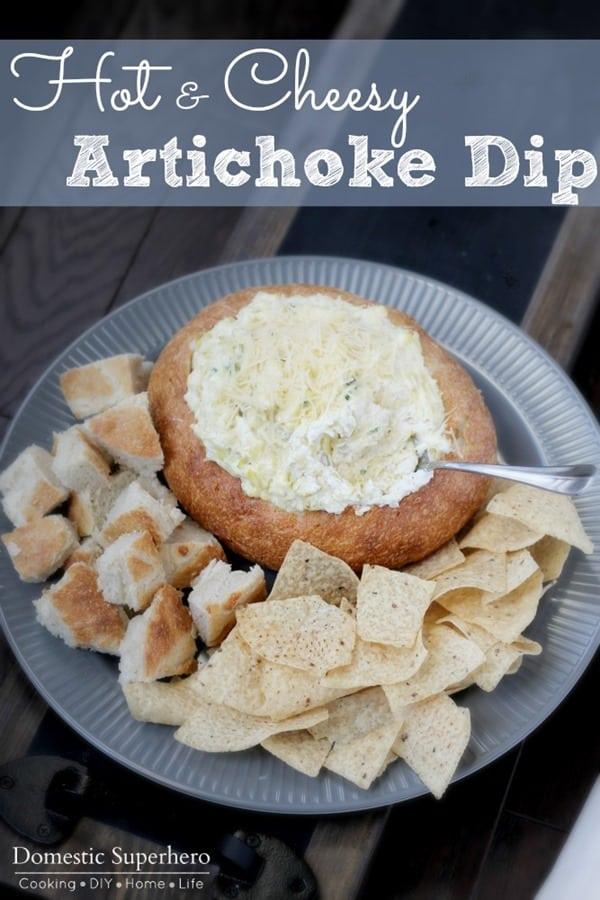 Hot & Cheesy Artichoke Dip