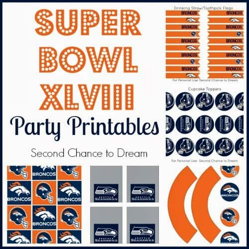 Super Bowl XLVIII party printables