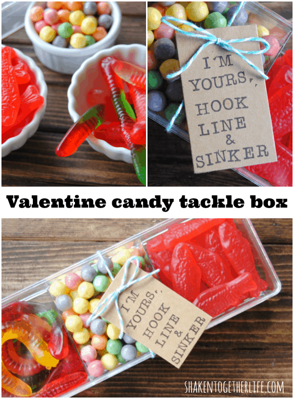 Valentine candy tackle boxes - great gift for guys!