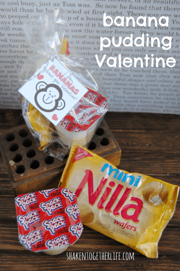I am BANANAS about you, Valentine! Quick and easy banana pudding Valentines!  Printable tags, too!
