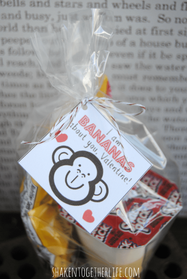 I am bananas about you! Banana pudding Valentine and printable tags - SO cute!