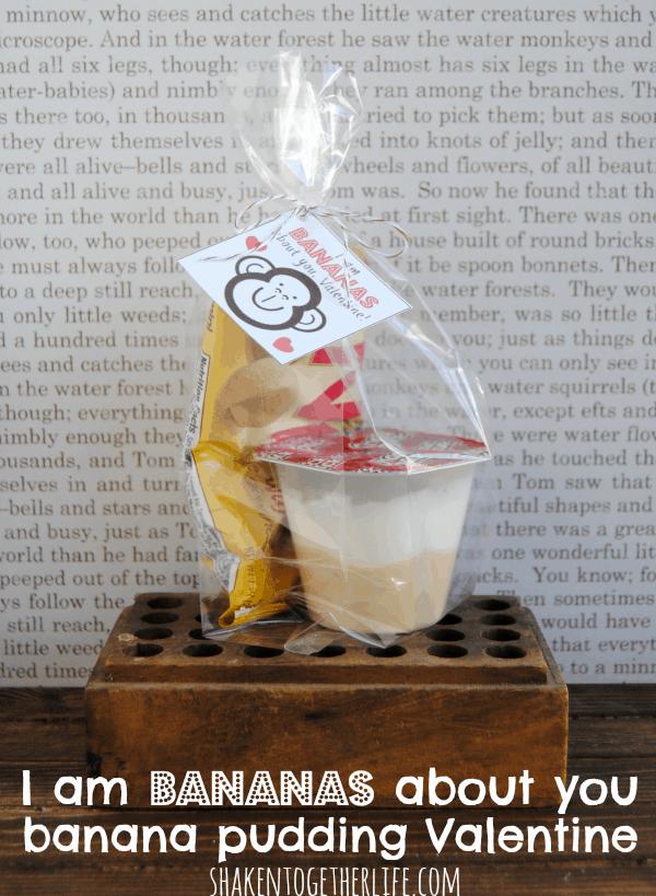 I am BANANAS about you banana pudding Valentines! FREE printable tags, too!